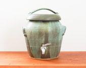 Made to Order ** Two gallon kombucha fermentation crock in your choice of glaze. Handmade, wheel-thrown ceramic stoneware.