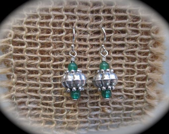 Lady Luck Aventurine and Silver Dangle Earrings