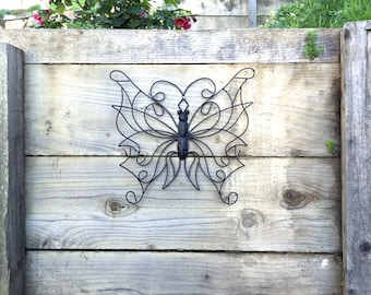 Garden Decor, Butterfly Wall Decor, Butterfly Decor, Garden Wall Art, Garden Wall Decor, Butterfly Garden Decor, Metal Butterfly Decor
