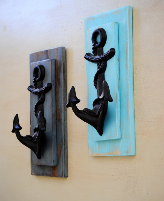 Anchor Wall Hook Nautical Decor By Revampedandrevived On Etsy