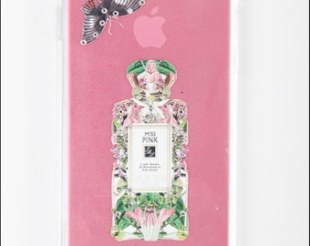 iPhone 5s 5c Case - Diamond Perfume Bottle Hard Back Case Skin Cover for iPhone 6 - PINK