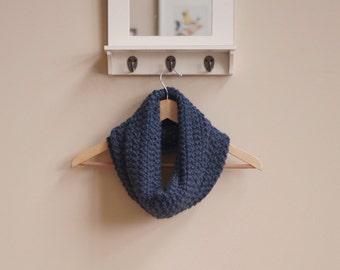 Cozy Knit Blue Cowl