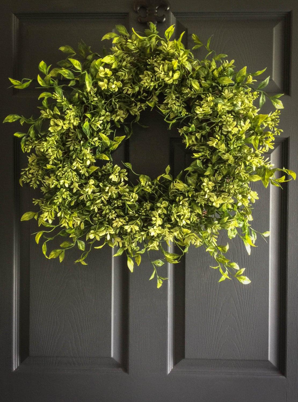 Wreaths Faux Boxwood Wreath Winter Wreaths Front Door