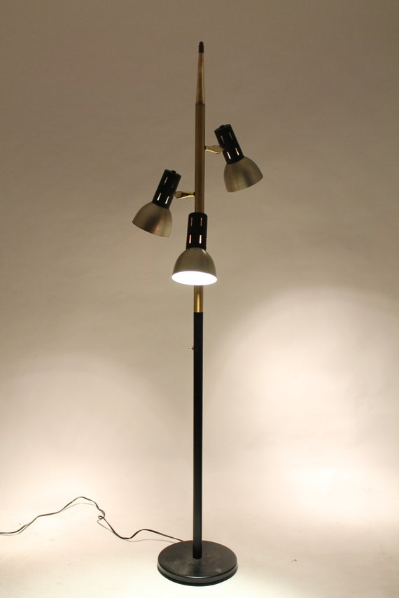 on hold 3 heads floor lamp 72 inches high mid century vintage. Black Bedroom Furniture Sets. Home Design Ideas