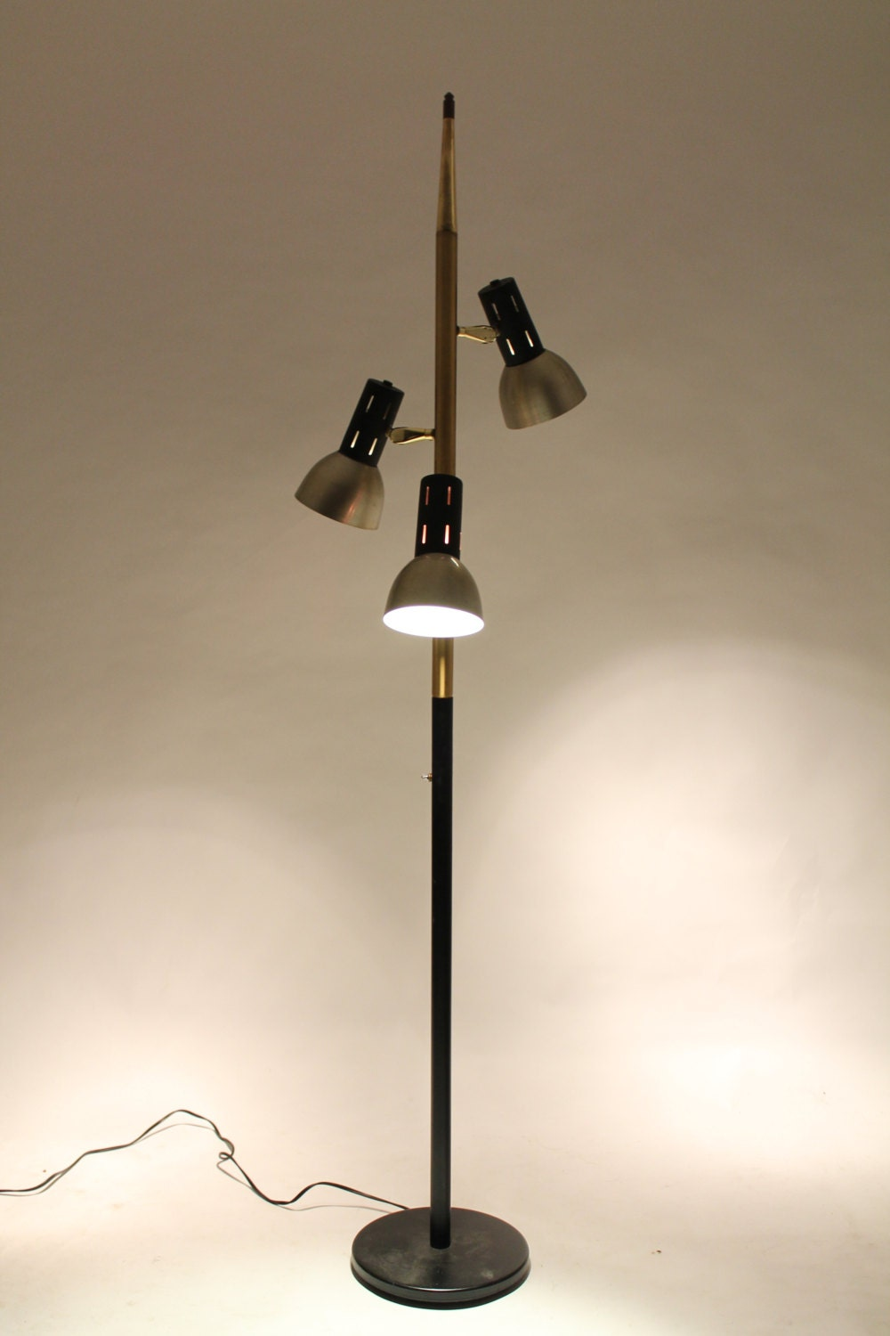 on hold 3 heads floor lamp 72 inches high mid century. Black Bedroom Furniture Sets. Home Design Ideas