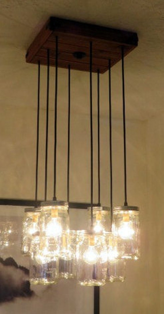 8 pendant jar chandelier kitchen lighting by