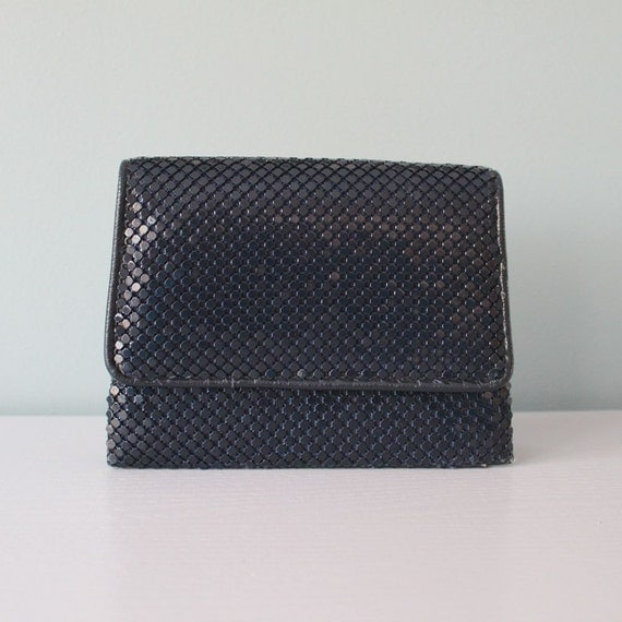 vintage purse la regale blue mesh purse vintage metal mesh. Black Bedroom Furniture Sets. Home Design Ideas