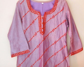 Embroidered Tunic Small Indian Boho