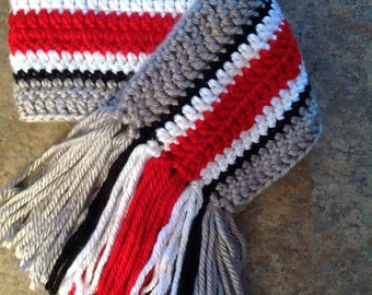 Ohio State Helmet Inspired Scarf