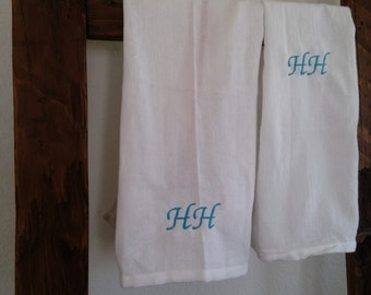 Monogramed 100% cotton lightweight tea towel