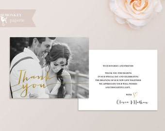 Wedding Thank You Card (Printable)
