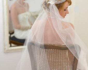 """Juliet Cap veil """"Onassis"""" / Juliet Cap veil / bridal illusion tulle / Juliet Cap / vintage veil"""