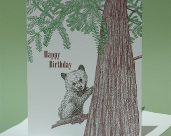 Redwood Birthday and Blank Note Card
