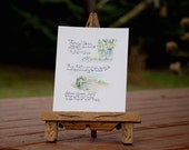 ReServed - - Original Watercolor Painting  ... Rehearsal Dinner ...  Wedding Invitation Announcement