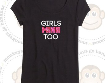 Girls MINE Too - Gamer T-shirt - Pixel font - Gaming, Glitter, Non glitter, Back to school, Birthday Party, Game themed Party, BFF present