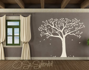 Large Family Tree Of Life Wall Decal   Vinyl Wall Sticker   Custom  Silhouette   Black
