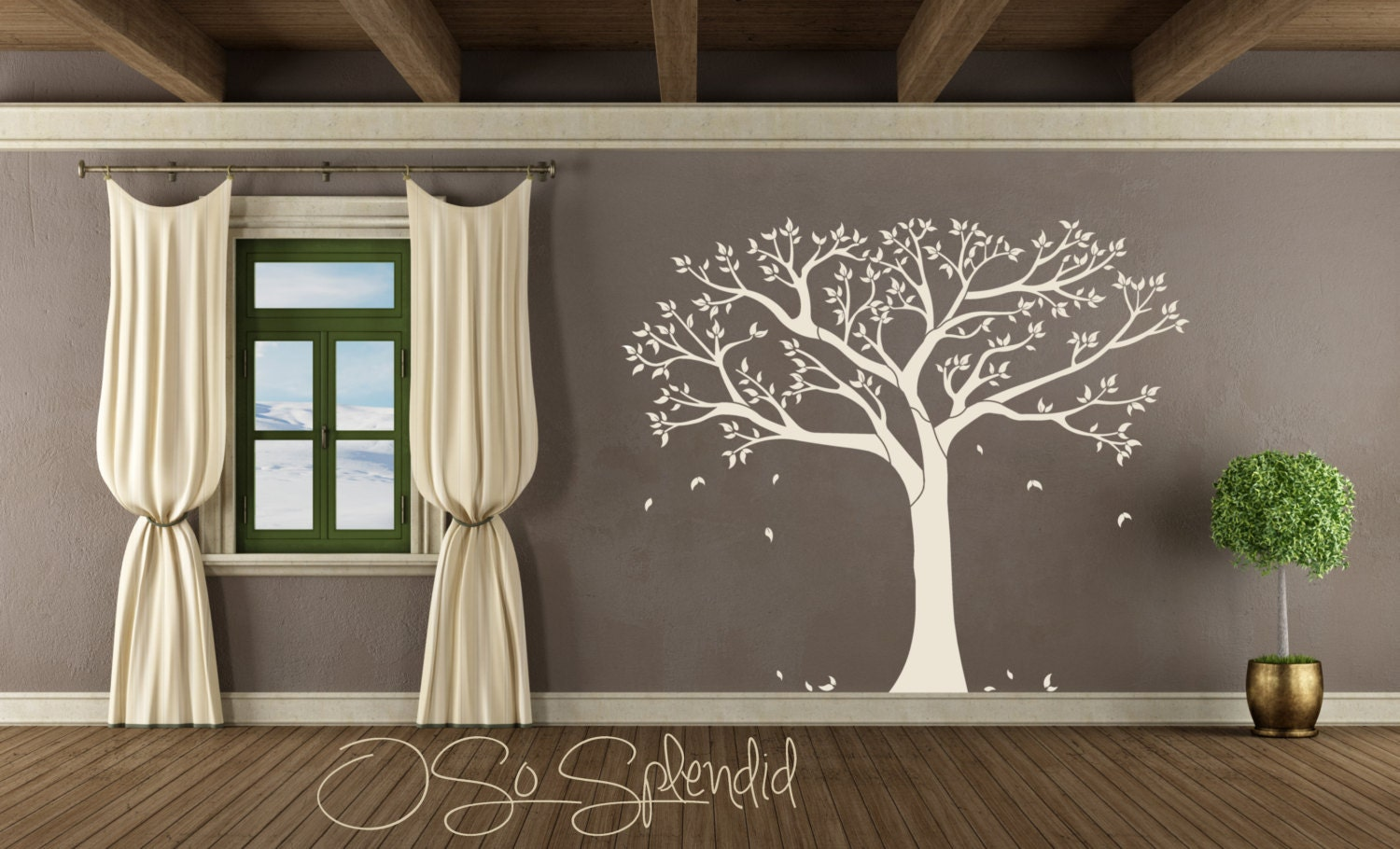 Large Family Tree Of Life Wall Decal Vinyl Wall Sticker