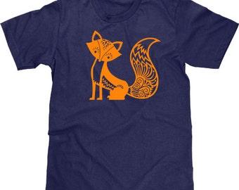 Cute Fox Shirt, Cute Animal Tshirt, Fox T Shirt, Animal T Shirt, Fox Tshirt, Fox Tee, Forrest, Woodland Critter, Whimsical, Men Plus Size