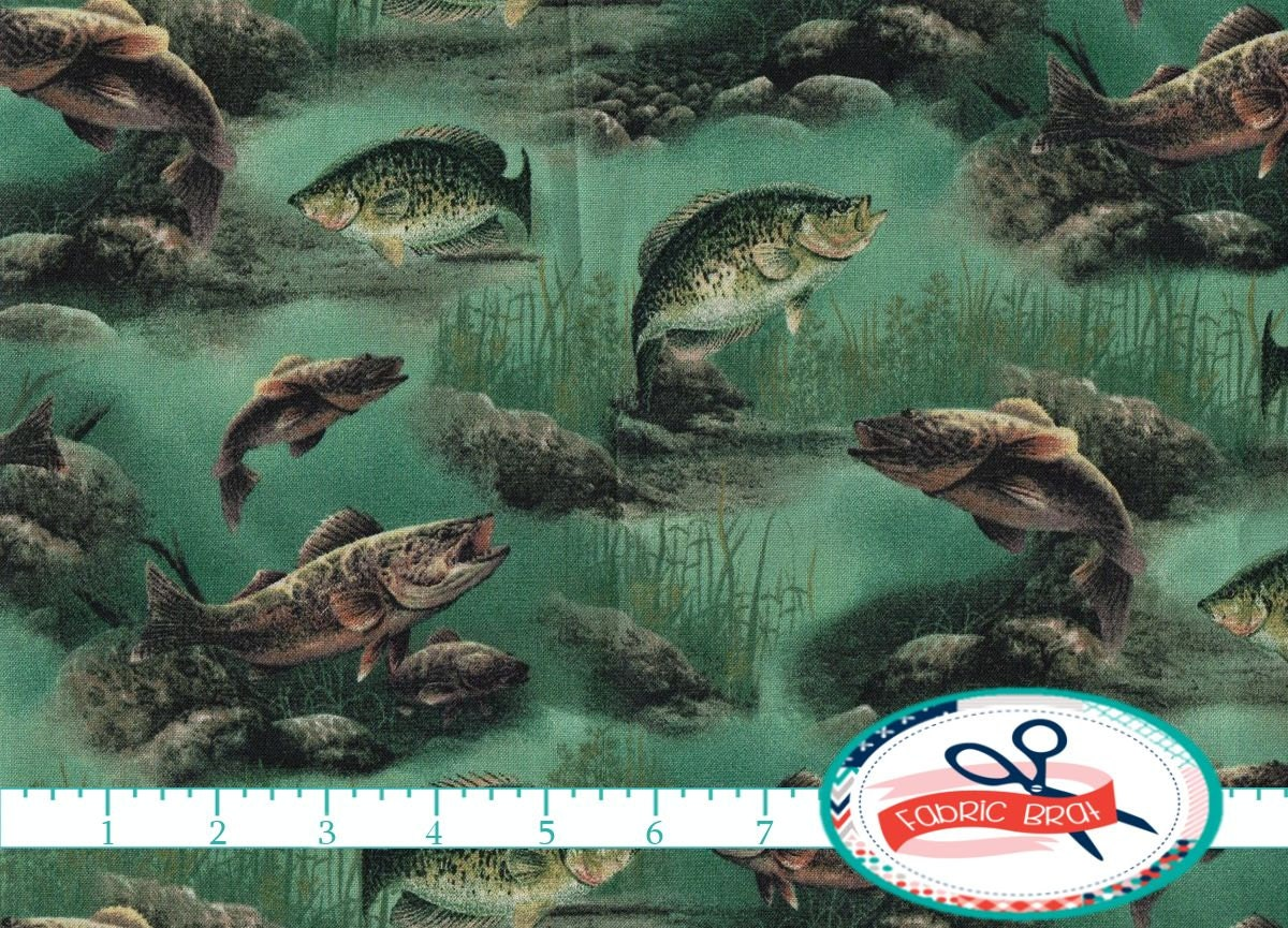 fishing fabric by the yard fat quarter underwater fabric fish
