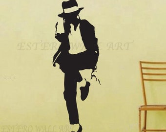 Michael Jackson 2 Removable wall Stickers, Removable Wall Decals, Nursery wall decal, home decor, boys room decal, christmas gift