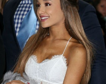Ariana Grande in my Floral Cat Ear Headband - The Classic Kitty Cat Headband in Twine