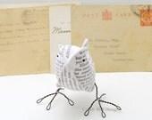 2nd Anniversary Fabric Bird Jane Austen Pride and Prejudice Second Wedding Anniversary Cotton- Made To Order