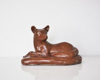 Vintage Ceramic Fox Statue