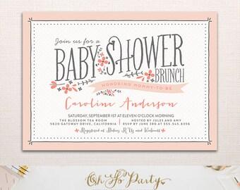 BABY FLORA Custom Baby Shower Brunch Invitation