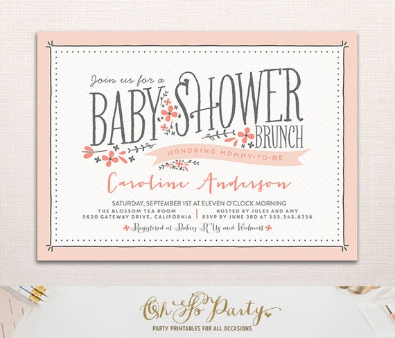 BABY FLORA Baby Shower Invitation Floral Baby Shower by ...