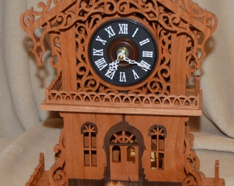 Enchanted Cottage Clock