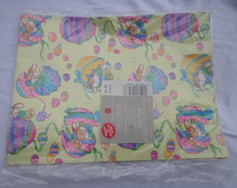 Vintage American Greetings Easter Spring Easter Bunny Rabbit Gift Wrap Wrapping Paper