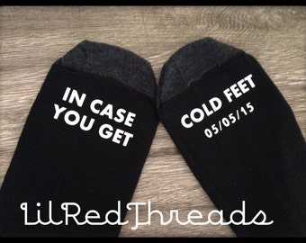 Cold Feet Groom Socks for Wedding