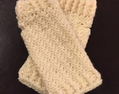 Fingerless Gloves, Ivory