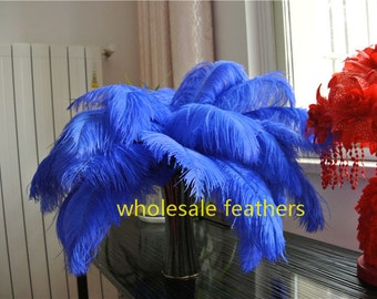 100 pcs royal blue ostrich feather plumes for wedding party centerpiece wedding decor
