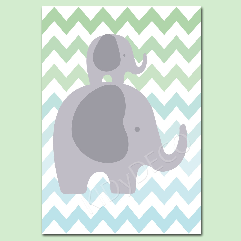 Marco de elefante para ni o beb chevron de la por - Fotos de elefantes bebes ...
