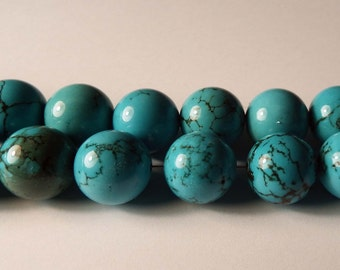 12mm Chinese Turquoise Rounds