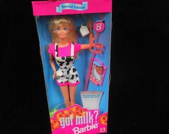 1995 Mattel GOT MILK? BARBIE - Mint nrfb!