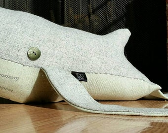 Wesson the Stuffed Wool Whale