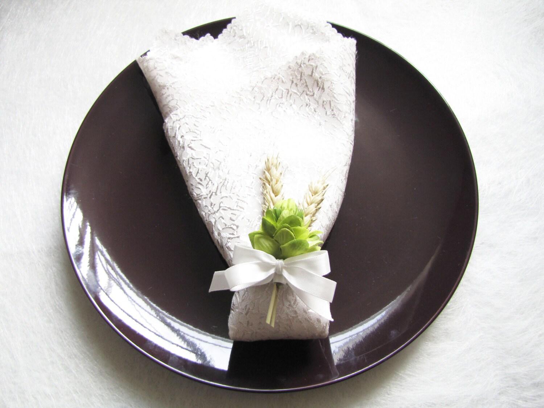 4 Wedding Napkin Rings Multi Fountional Flower By HydrangeasLover
