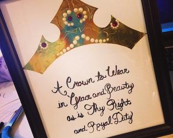 Sleeping Beauty Crown Art
