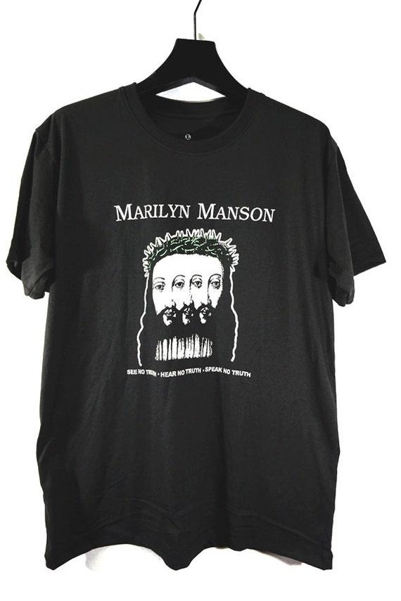 items similar to marilyn manson t shirt american rock. Black Bedroom Furniture Sets. Home Design Ideas