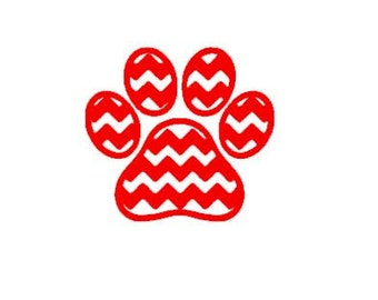 Image result for chevron print panther paw