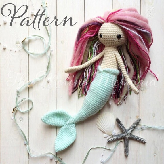 Free Amigurumi Mermaid Patterns : Miriam the Mermaid Crochet Amigurumi Doll Toy by ...