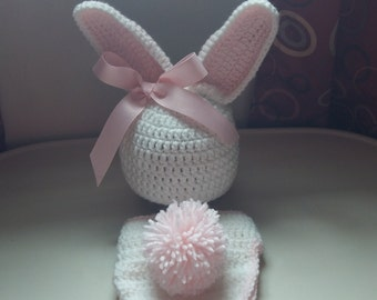 Handmade Crochet Bunny Outfit