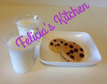Milk and cookies for american girl dolls, cookies and milk for american girl dolls, milk and cookies for 18 inch dolls, pretend doll food