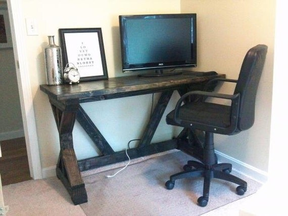 handcrafted farmhouse fancy x office desk solid wood you choose