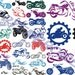 MOTORCYCLE biker embroidery machine  designs  / motifs moto pour broderie machine / INSTANT DOWNLOAD