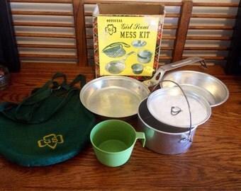 Vintage Girl Scouts Mess Kit