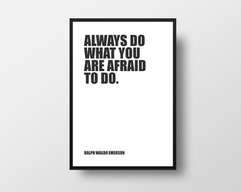 Motivational Quote, Books, Ralph Waldo Emerson, Typographic Print, Inspirational Poster, Literary Poster, Literary Poster