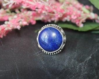 Lapis Lazuli ring set in Sterling silver
